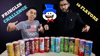 PRINGLES CHALLENGE ! 16 Flavors ! Potato Chip Taste Test Challenge !
