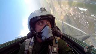 Incredible cockpit footage of MiG-29 at Fairford Air Tattoo RIAT