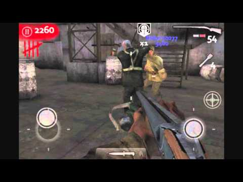Call of Duty: WaW: Zombies iPhone / iPod Touch Gameplay - Der Riese (Part 1)