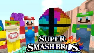 *NEW* SUPER SMASH BROS ULTIMATE! | Mario's Nintendo Land | Minecraft Switch [52]