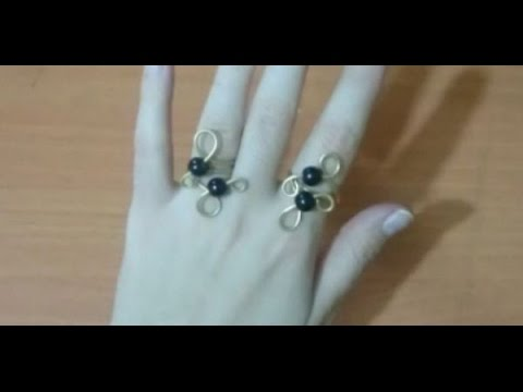 How to Make a Simple Wire Wrapped Bead Ring   How to Make a Simple Wire Wrapped Bead Ring + Tutorial
