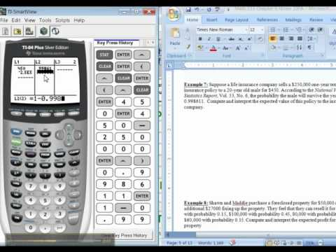 Ch 6 - Part 3 of 6 - Math 133 TI-83/84