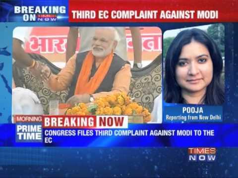 Congress files complaint against Narendra Modi