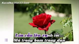 Nắng Ấm Quê Hương KaraOke   Beat Chuẩn   Nét Căng