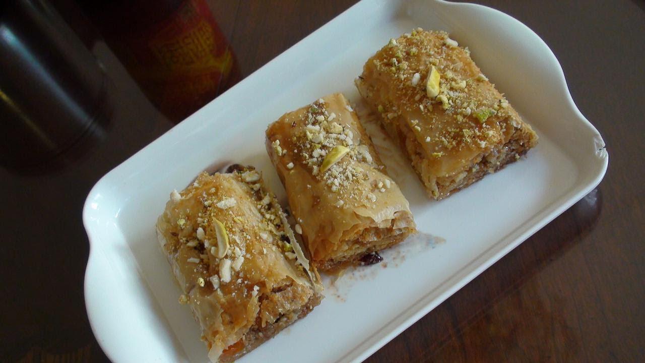 Baklava Recipe Turkish Baklava Rolls Recipe Video