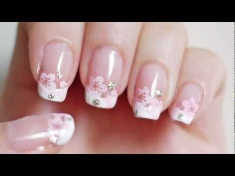 Cherry Blossom French Manicure