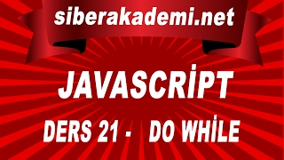 Javascript Dersleri 21 - Do While
