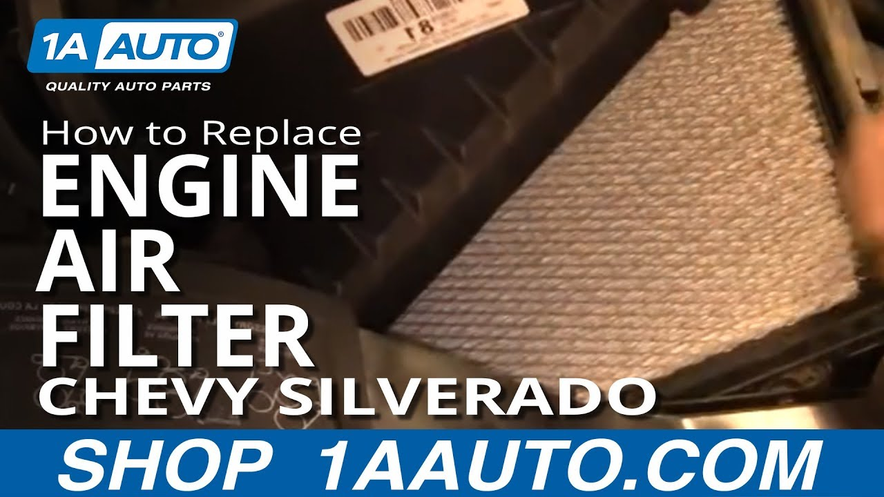 How To Install Replace Engine Air FIlter    Chevy    SIlverado