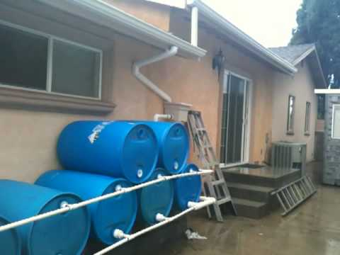 Rain water harvesting youtube for How to build a rainwater collection system