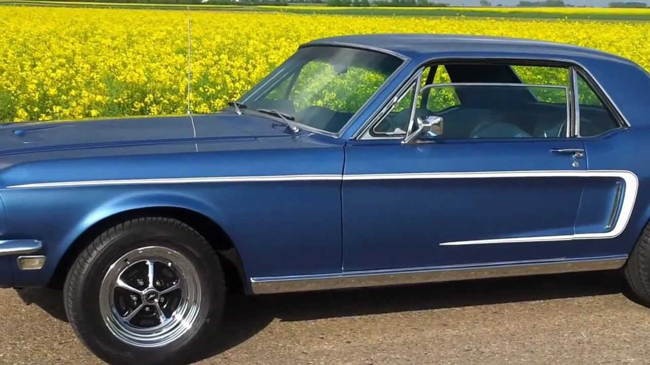 Ford Mustang 1968 Gt Coupe Side View And Some Revs