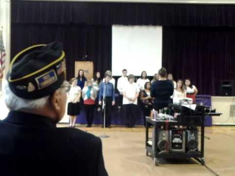 Nute High School chorus sings 'Oh, America'