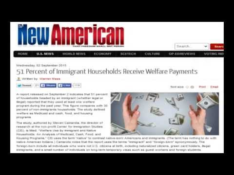 51 Percent of Immigrant Households Receive Welfare Payments