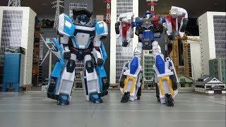 헬로카봇과 또봇 경찰로봇이 경찰차로 변신해요! Hello Carbot and Tobot police robots turn into police cars!