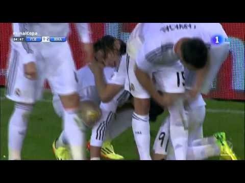 Gareth Bale Brilliant Goal :: FC Barcelona vs Real Madrid 1-2 Copa Del Rey Final [HD] [ESP]