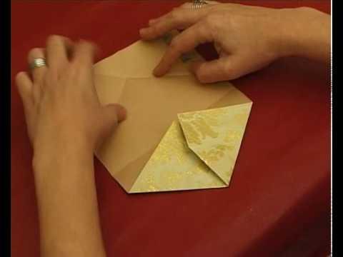 Karácsonyi ajándéktasak készítés, origami