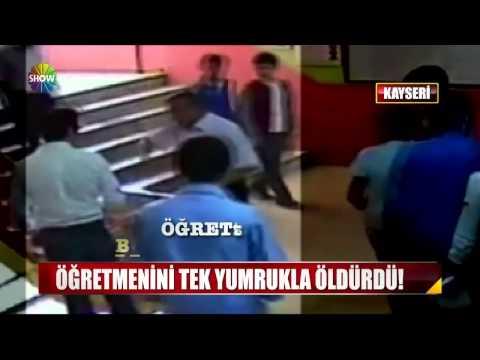 Kayseri'de Öğrenci Öğretmenini Tek Yumrukla Öldürdü