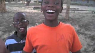Very funny kid in african orphanage