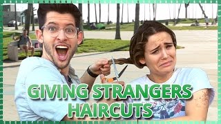 Cutting Strangers Hair Challenge | Do It For The Dough w/ Ayydubs and Hunter March