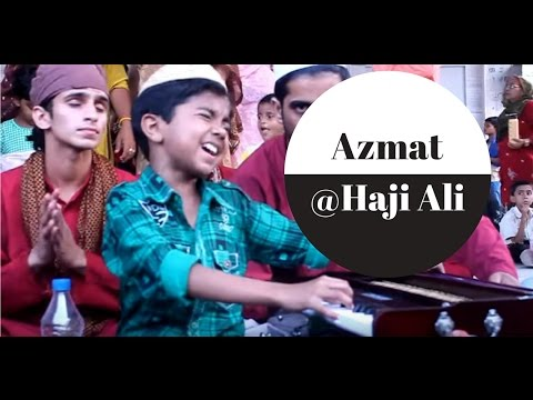 Cute Qawwal at Haji Ali Dargah ( Azmat Hussain before entering...