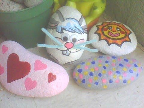 Manualidad decora con piedras pintadas ideas originales - Piedras de rio pintadas ...