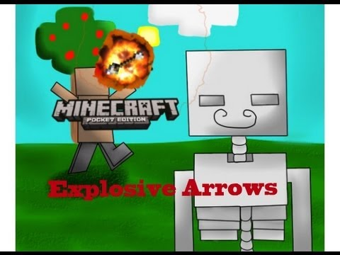 Minecraft Pocket Edition Explosive Arrows Mod Review