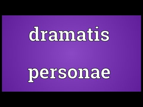 Header of Personae