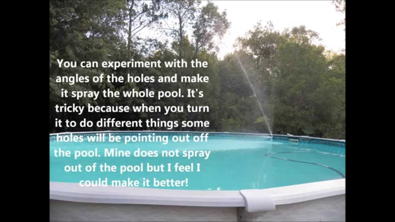 Home Made Pvc Pool Fountain 1st1twing Youtube