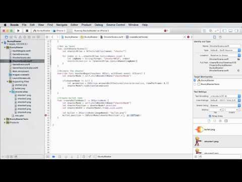 iOS Development with Swift Tutorial - 37 - Creating the Bullet