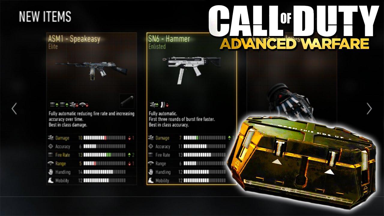 Advanced warfare quot supply drops quot gameplay footage rare guns camos