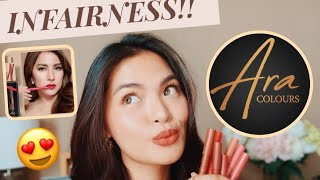 ARA COLOURS BY ARA MINA x EVER BILENA (SWATCHES + FIRST IMPRESSIONS!!) • Joselle Alandy