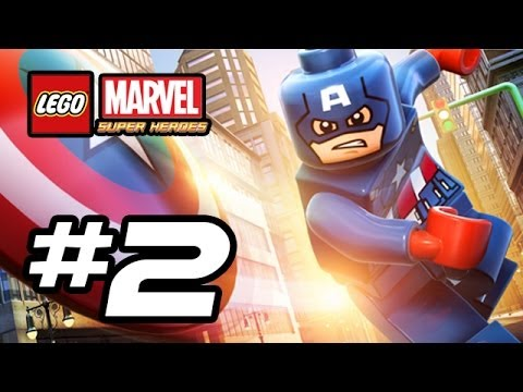 LEGO Marvel Super Heroes Gameplay Walkthrough - Part 2 - STRETCHY SHAPES! (Lego Gameplay HD)