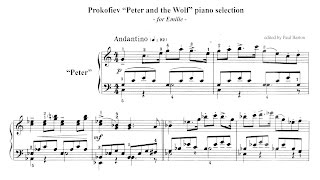 Prokofiev Peter And The Wolf PIANO Selection FREE SHEET MUSIC VideoMp4Mp3.Com