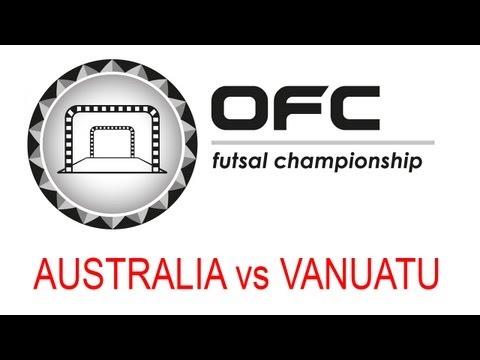 2013 OFC Futsal Championship Invitational Match Day 2 Australia vs Vanuatu