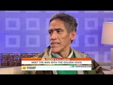 Today Show Homeless man with golden voice thankful to be here