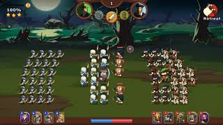 Knights and Glory Gameplay - Halloween Battle Featuring Vlad vs Robin Hood