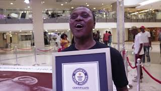 Percy Maimela successfully achieves a Guinness World Record