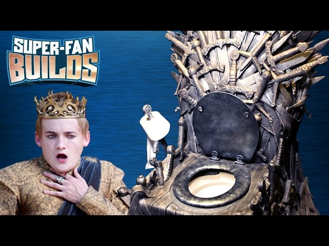Game of Thrones - Iron Throne Toilet - SUPER FAN BUILDS