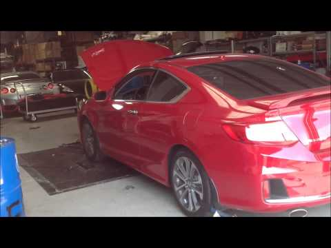 2013 Honda Accord Coupe EX-L V6 w/Nav 6 Speed Manual Transmission Dyno Test