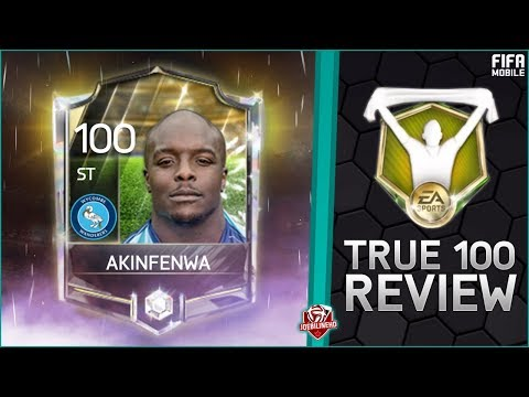 FIFA MOBILE 18 TRUE 100 #1 AKINFENWA AT 100 ovr #FIFAMOBILE GAMEPLAY PLAYER REVIEW STATS