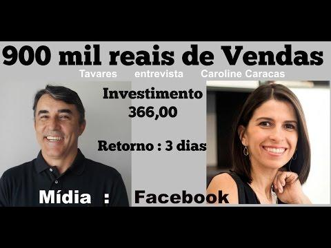Como vender 900 mil reais com 366 de investimento  Tavares e Caroline Caracas