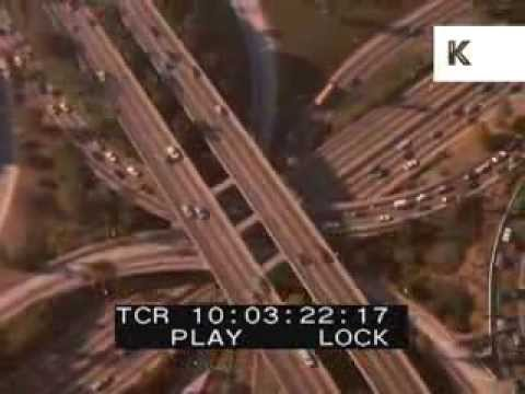 1980s Los Angeles Aerials, Roads, Driving, 35mm