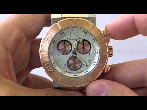 Invicta Watches   Men's 6755 Ocean Reef Reserve Collection 18k Rose Gold Chronograph Swiss Made Watch