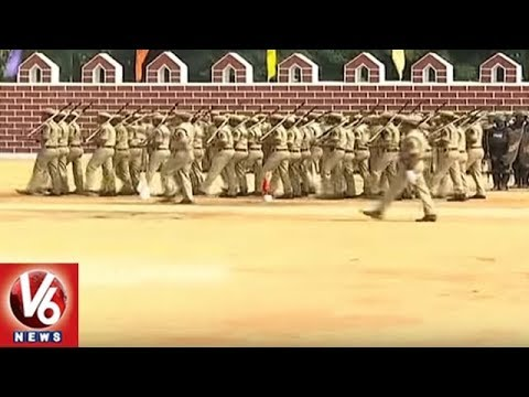 Special Rapid Action Force Period in Hyderabad | V6 News