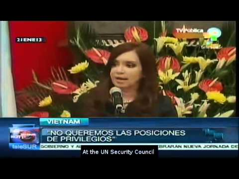 Cristina Fernández highlights the role of emerging economies