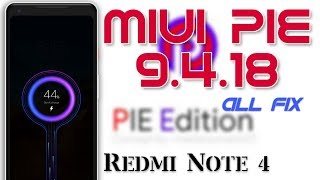 Redmi Note 4 (Mido) MIUI Pie ROM Review | Game booster Dark mode New Tones Digital Wellbeing - HiNDi