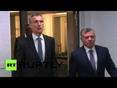 Belgium: King of Jordan meets NATO head Jens Stoltenberg
