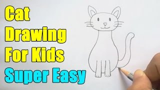 How to draw a cat for kids