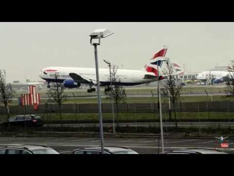 ✈✈ Plane Spotting at London Heathrow Airport - 09L Arrivals - 15-2-2015 (1080p HD) ✈✈