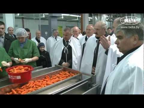 Лукашенко посетил завод в Быхове