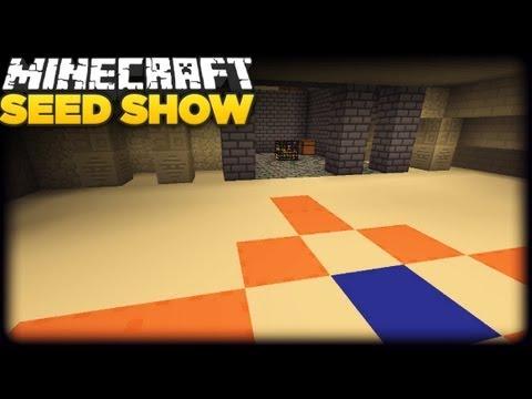 Minecraft 1.8 Seeds: SPAWNER in TEMPLE!!